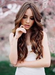 natural wedding hairstyles for long hair wedding party decoration