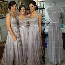 grey bridesmaid dresses cap sleeve bridesmaid dresses lace bridesmaid dress grey prom