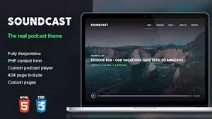 soundcast podcast responsive theme themeforest website