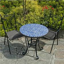 Tile Bistro Table Patio Ideas Mosaic Tile Top Patio Table How To Make A Tile
