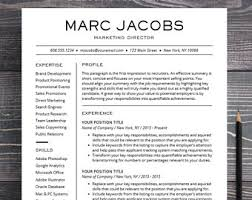 modern resume template word resume template professional creative resume instant