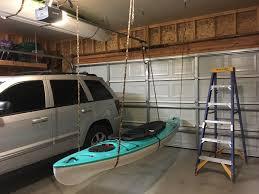 kayak storage above garage door album on imgur