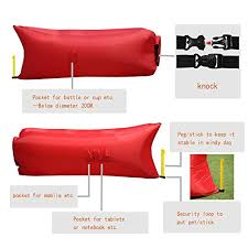 homfu inflatable lounger sofa bags air sleeping bag bed lounger