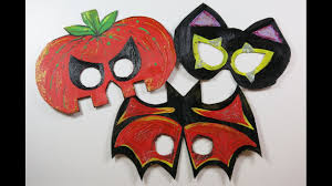 diy cute halloween masks for kids how to make masks from cartons