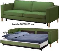 Green Sofa Bed Ikea Karlstad Replacement 3 Seat Sofa Bed Slip Cover Sivik
