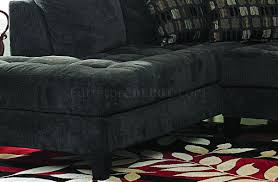 Double Chaise Sectional Gray Fabric Contemporary Double Chaise Sectional Sofa