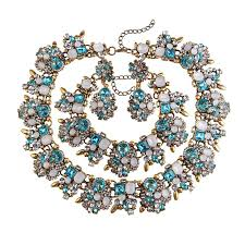 chunky crystal necklace sets images Crystal chunky statement necklace set zarinz jpg