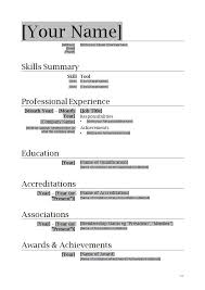 Full Resume Template Microsoft Word 2010 Resume Template Resume Templates For Word