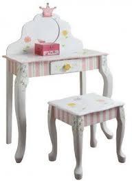 Childrens Play Vanity Girls Wooden Vanity Set Foter