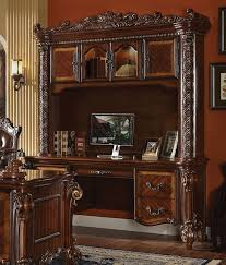 Computer Desk With Hutch Cherry Ornate Traditional Computer Desk Hutch In Brown Cherry