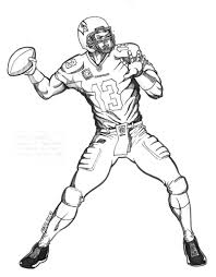 football player coloring pages getcoloringpages com