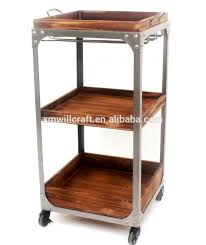 Industrial Kitchen Cart by Trolley Cart Wooden Industrial Trolley Cart Wooden Industrial