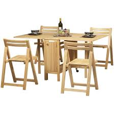 fresh space saver table and chair set with additional chair king
