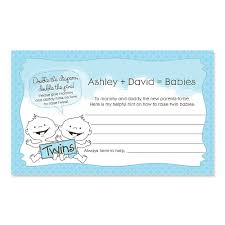 advice cards baby boys personalized baby shower helpful hint advice