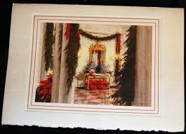 House 1985 by Lot Detail Set Of 4 White House Christmas Cards Ronald Reagan