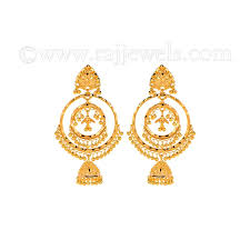 gold jhumka earrings 22k gold jhumka chandbali earrings raj jewels