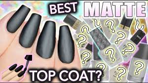 best matte top coat for nails youtube