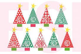 monogram christmas patterned christmas tree monogram desig design bundles