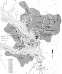 Map Note Map Of The Central Coast Salish Area Showing The Locations Of