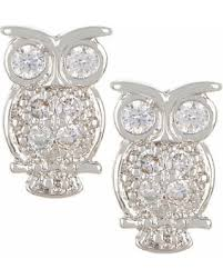 owl stud earrings amazing shopping savings bay studio cz owl stud earrings