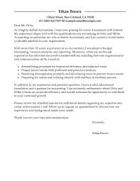 Best Resume Letter Sample by Best Accountant Cover Letter Examples Livecareer