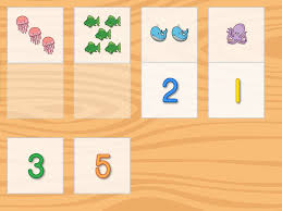 number pictures matching education