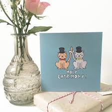 groom and groom wedding card groom and groom wedding card for cat by ladykerry