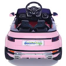 pink range rover range rover evoque ride on car
