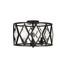 Home Decorators Colection Home Decorators Collection 3 Light 15 In Bronze Prismatic Glass