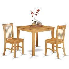 Wayfair Kitchen Table Sets by 3 Piece Kitchen Table Set Simple Living Leah Black 3piece Dining