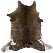 Calf Skin Rug Brown Brindle Rodeo Hair On Calfskin