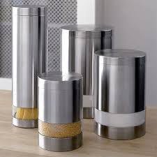 cool kitchen canisters modern kitchen canisters crate barrel decorating smart