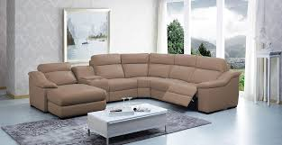 Sectional Sofas With Recliner by Modern Leather Sectional Sofa W Beverage Console And Recliners