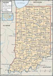 Illinois Road Map by State And County Maps Of Indiana