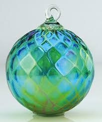 Birthstone Ornament Glass Eye Studio Green Diamond Facet Classic Ornament Christmas