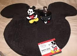 Disney Bath Rug Disney Mickey Mouse Soap Lotion Dispenser Toothbrush Holder Bath