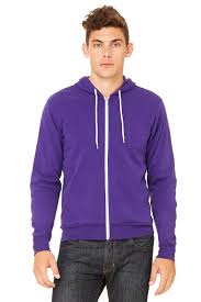 unisex sponge fleece full zip hoodie bella canvas