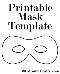 mask template printable mask templates 30 minute crafts