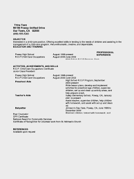 Resume For Nanny Sample by Glamorous Teen Resume Examples