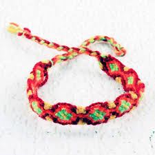 red friendship bracelet images Red and yellow macrame bracelet string friendship bracelets jpg
