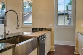 stainless steel faucets kitchen stainless steel farmhouse sink in kitchen contemporary with apron