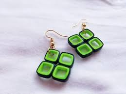 handmade paper earrings new handmade paper quilled earrings waterproofed ebay