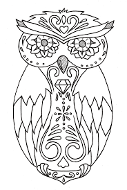 day of the dead owl tattoo design on student show