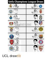 Chions League Meme - uefa chions league draw troll football bvb arsenal ncra ucl draw