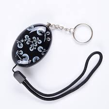 120db delicate printing emergency personal alarm keychain the wolf