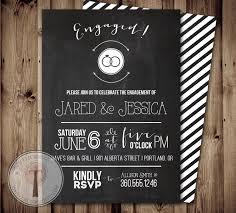 Engagement Invitation Cards Free Chalkboard Engagement Party Invitation Engagement Party