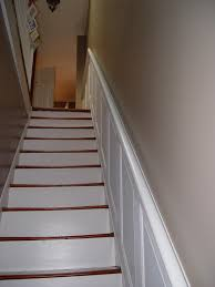 Banister Meaning Hold On Tight Staircase Wainscoting And Handrail Project Old