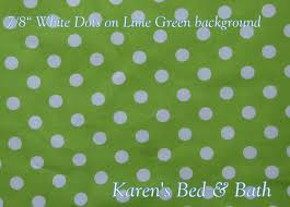 Lime Green Polka Dot Curtains Lime Green With White 7 8 Inch Big Polka Dots Curtain Valance