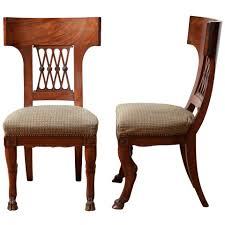 modern klismos chair pair of directoire chairs with style elements of the greek klismos
