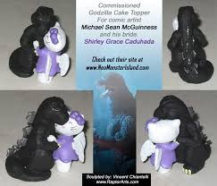 godzilla cake topper godzilla wedding cake topper by raptorarts on deviantart
